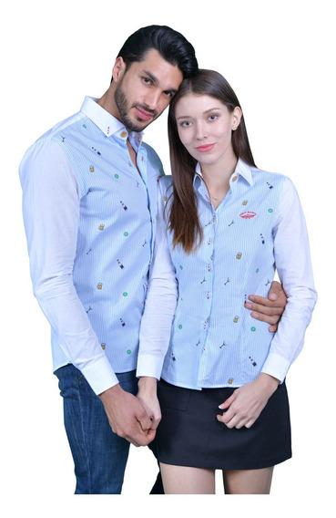 Duo De Camisas Porto Blanco Mujer O Hombre De-968