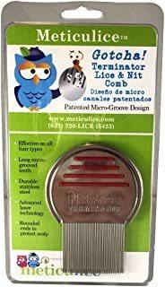 Meticulice Head Lice & Nit Comb For Head Lice Removal & Trea