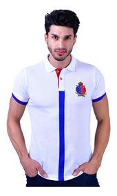 Camisa Polo Porto Blanco Algodon Hombre Carrera Ple-671