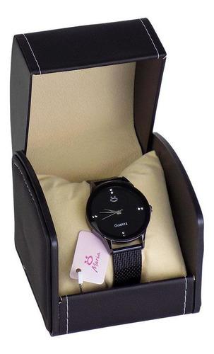 Relógio Orizom Maria Preto Caixa