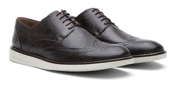 Sapato Casual Masculino Oxford Couro Fossil 206-frete Grátis