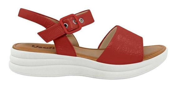 Sandália Vermelha Usaflex