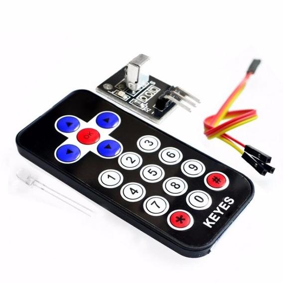 Controle Remoto Infravermelho Arduino Modulo Ir 17 Teclas