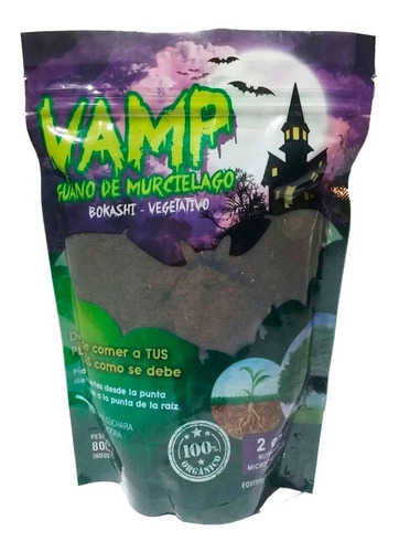 Guano De Murciélago Vamp Fertilizante Orgánico Vegetativo