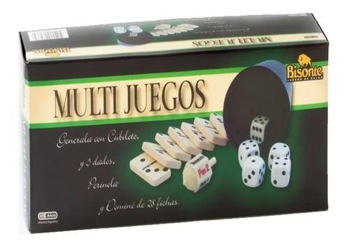 Multijuegos Generala Perinola Domino Marca Bisonte
