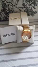 Relógio Feminino Em Dourado Euro Eu2036lzo/4d