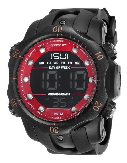 Relógio Masculino Speedo Vermelho 11005g0evnp1 Original + Nf