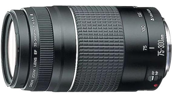 Lente Canon Ef75-300 F4-5.6 Iii Compativel Todas Câmeras Eos