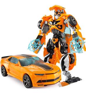 Bumblebee Alloy Novo Camaro Transformers Carro Robô Ft Gráts