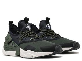 7fbc6f89 Zapatillas Nike Air Huarache Run Drift Verde Negro 2018