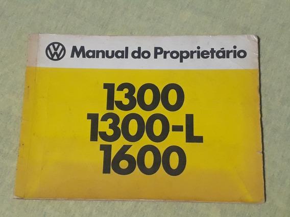 Manual Do Proprietario Fusca 1980 Antigo Original