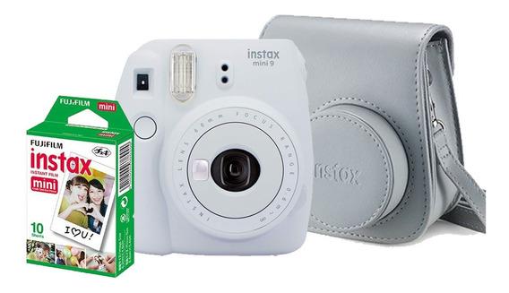 Kit Instax Mini 9 Bolsa E 10 Poses Branco Gelo - Fujifilm