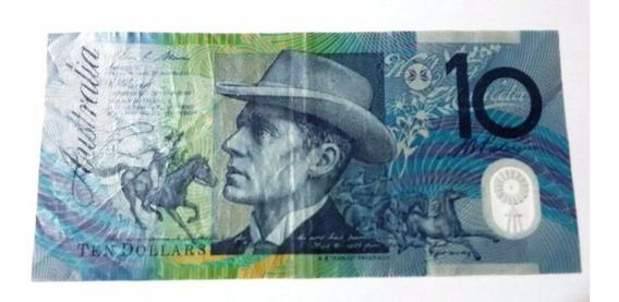 Cédula De 10 Dólares Australiano - Nota Linda