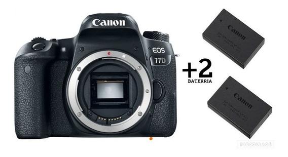 Câmera Canon Eos 77d - 24.2mp.(somente Corpo)+bateria