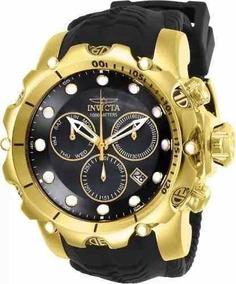 Relógio Pa199 Invicta Venom 26244 Masc. Banhado Ouro + Caixa