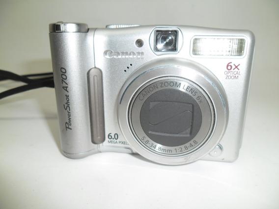 Câmera Fotográfica Canon Power Shot A700 6 Mega Pixel