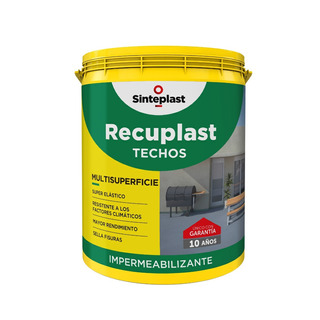 Pintura Impermeable Techos Recuplast 1lt 10 Años De Garantia