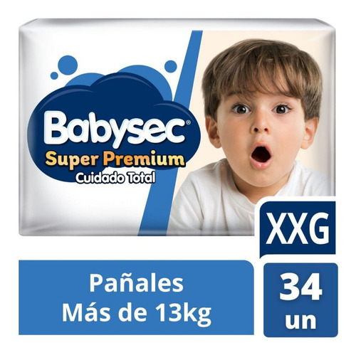 Babysec Super Premium Xxg X 34 Unidades