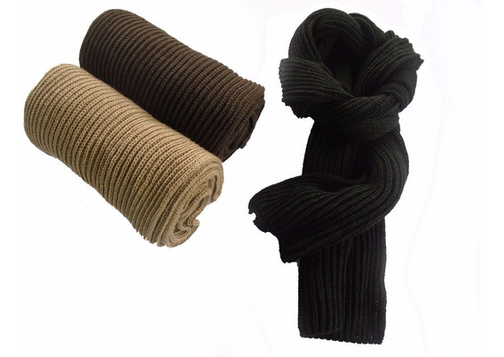 Cachecol Masculino/feminino De Lã Tam Gg Sem Franja