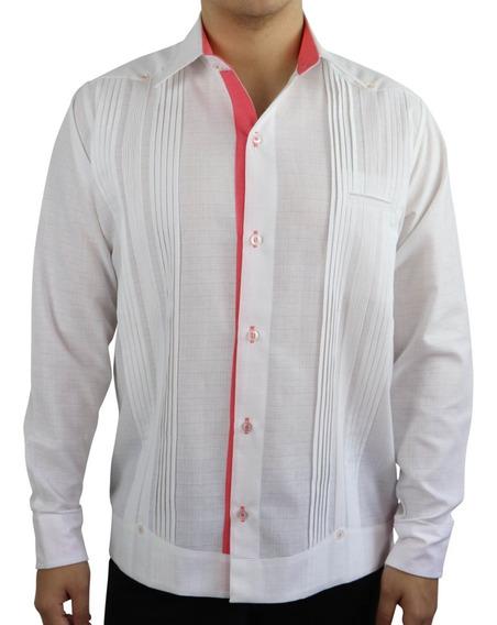 Guayabera De Etiqueta Para Hombre En Lino Blanco
