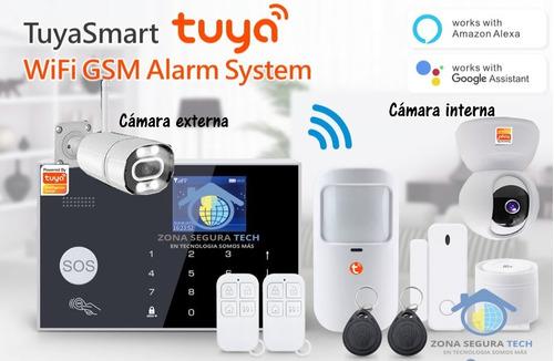 Kit De Seguridad Alarma Smart Wifi Gsm G30 Con Cámaras