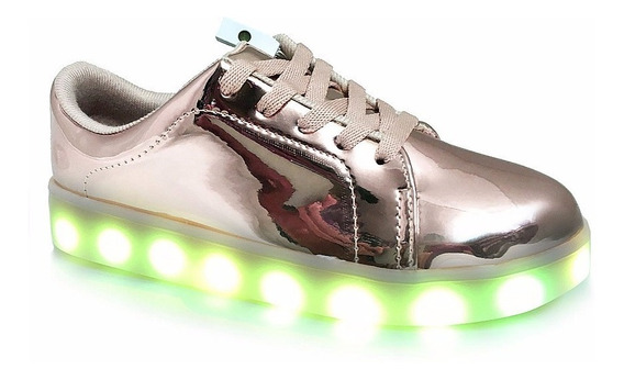 Zapatilla Luces Led Colores Usb Recargable Unisex