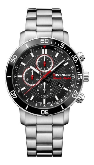Relógio Pulso Suíço Wenger Roadster Black Night Chrono 45mm