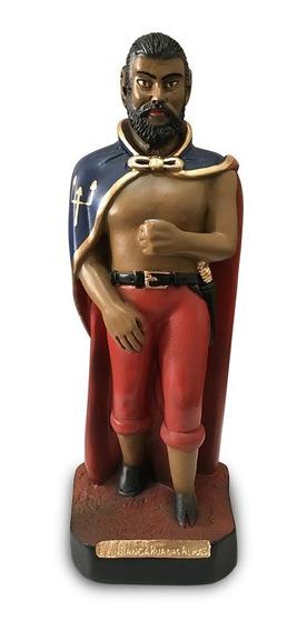 Imagem Exu Tranca Rua Das Almas Escultura Gesso Estatua 20cm