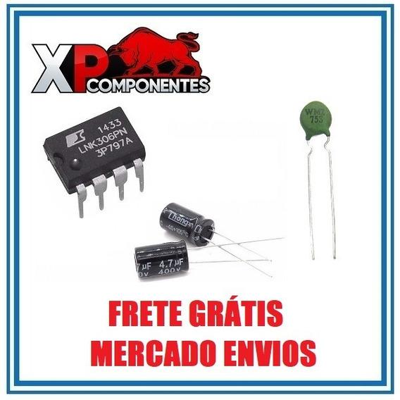 Kit 10x Lnk306pn + 20x 450v 4.7uf + 10x Termistor Wmz75s