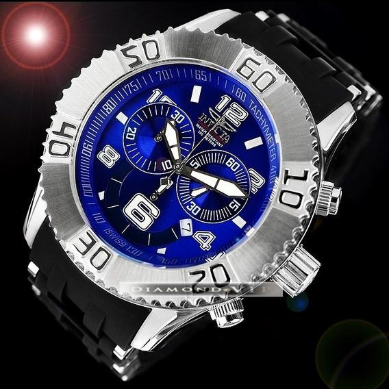 Relógio Invicta Original Masculino Novo Sea Spider Azul Pret