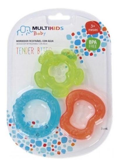 Mordedor Bebê Com Água 3 Unidades Tender Bites Multikids