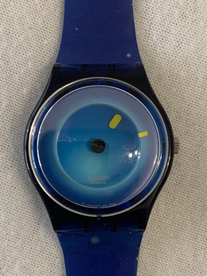 Relogio Swatch Misterio. Gz160,sem Uso,ano 99.caixa E Manual