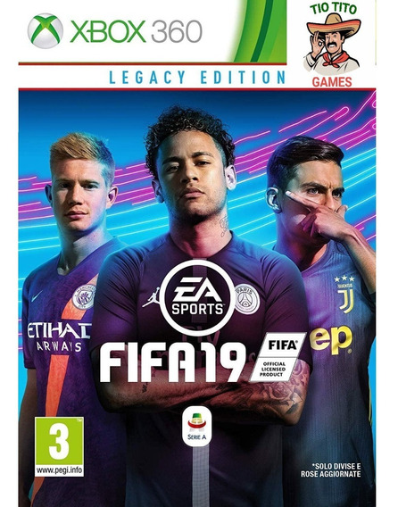 Jogo Fifa 19 Digital - Xbox 360 Funciona Em Bloqueado