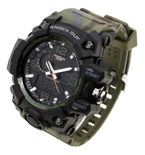 Reloj Knock Out Hombre 8179 Caucho Analogico Digital Wr50