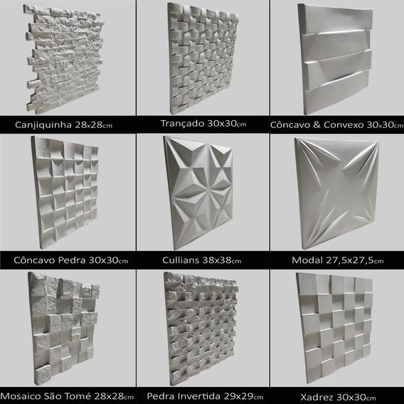 Forma Borracha E Plástico Placa Gesso 3d - Você Escolhe