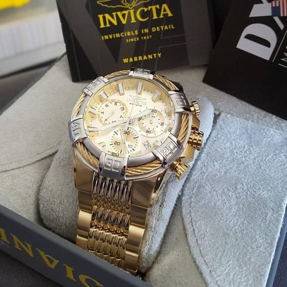 Relógio Suíco Invicta Invincible Detal Gold - Original