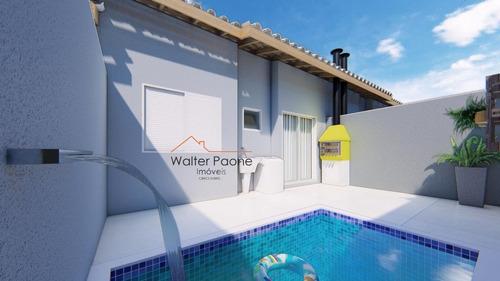 Casa A Venda No Bairro Cibratel Ll Em Itanhaém - Sp.  - Wcf348-1