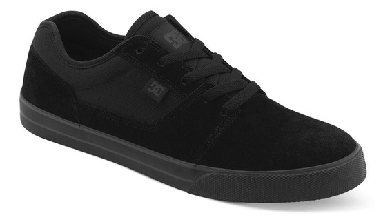 Zapatillas Dc Shoes Mod Tonik Negro Negro Cuero Descarne Lona
