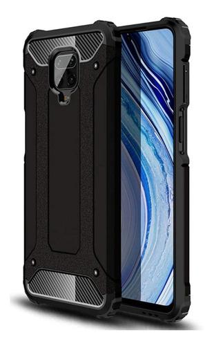 Capa Anti-impacto Hybrid Rugged P/ Xiaomi Redmi Note 9 Preta