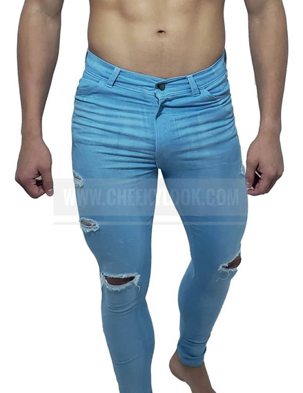 Jeans Slim Fit Rash 757 Prelavados Y Rasgados Cheekylook