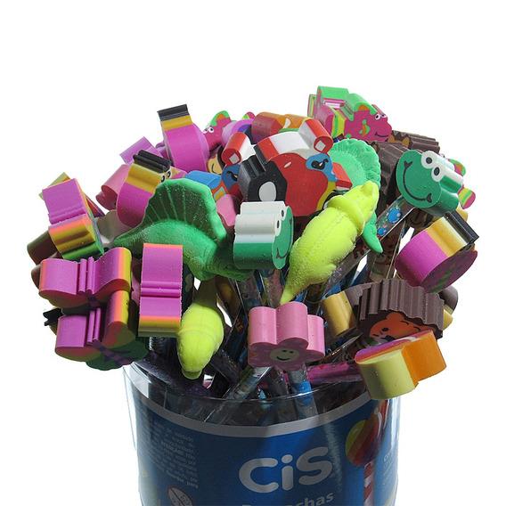 Lápis Decorado Borrachas Divertidas Com 48 Unidades Cis