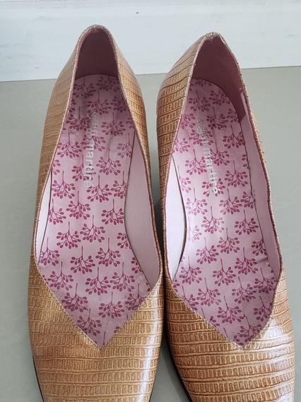 Zapatos Sofi Martire. Talle 35. Cuero. Taco Chino.color Ocre