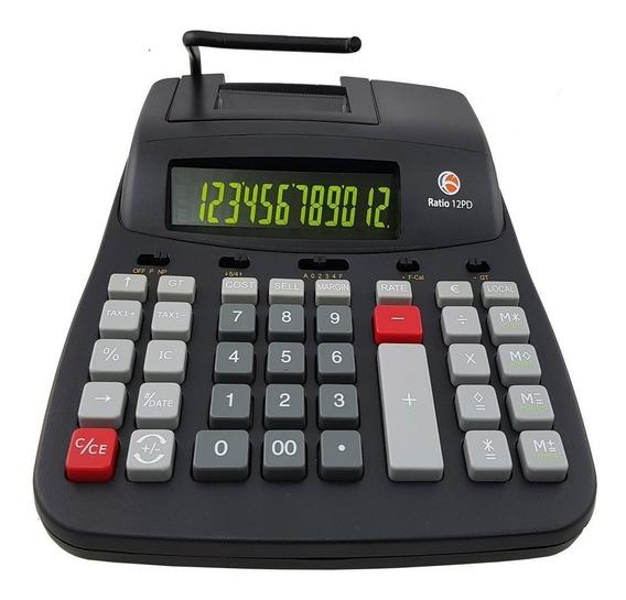 Calculadora De Mesa Bobina Com Impressão Ratio 12pd Termica