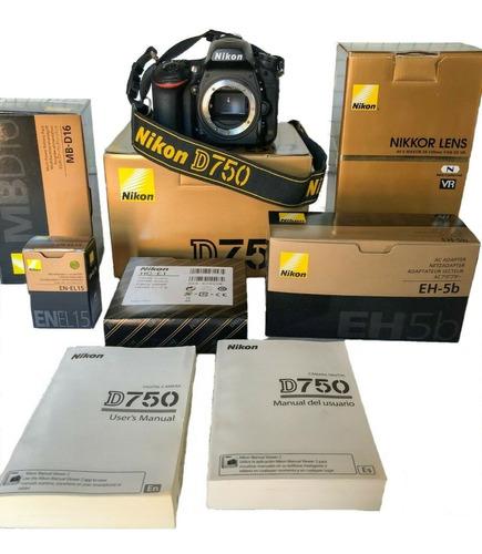 Kit Nikon D750 Vr Original 24 120 Mm Sellado Sin Abrir