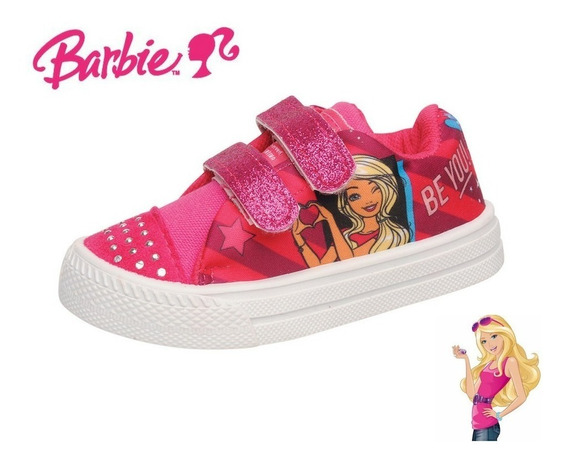 Zapatillas Urbanas Con Abrojo De Barbie Talles 21 Al 26