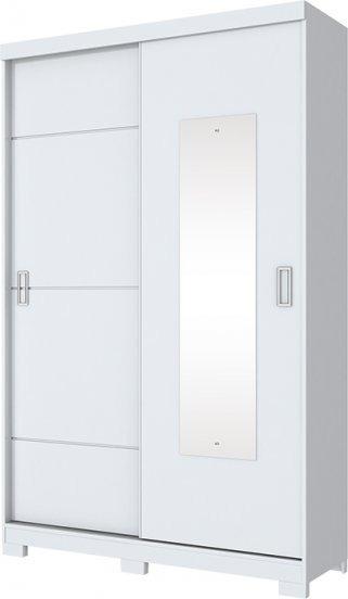Guarda-roupa Dakota C/2 Portas Deslizant E 2g Branco/rosa(i)