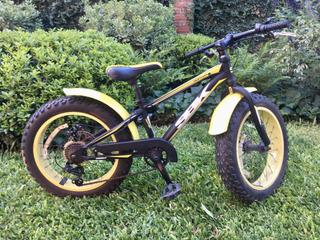 Bicicleta Niños Sbk Hunter Fat Bike 20 7vel Disco