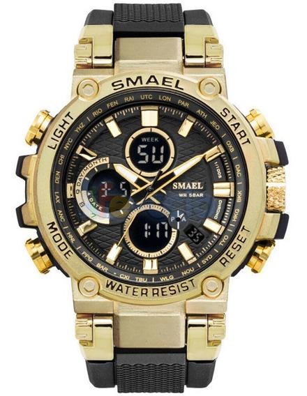 Relógio Masculino Smael 1803 Original S-shock Caixa De Metal