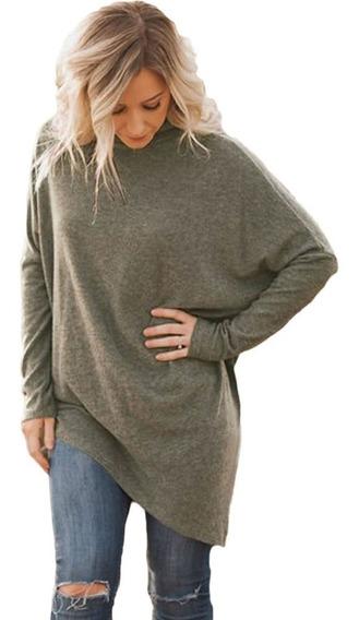 Anself Long Sleeve Loose Knitwear Pullover Preto Xxl