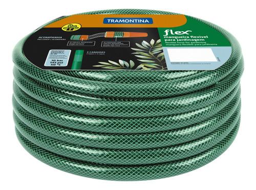Mangueira Flex Verde Tramontina 30 M C/ Engate E Esguicho